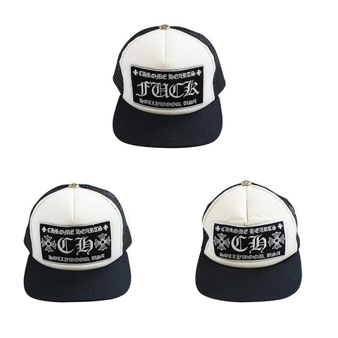 chrome hearts fuck & CH black Logo Trucker Set - SaruGeneral