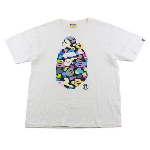 Bape Multi Big Ape Sleeping Milo Logo White - SaruGeneral