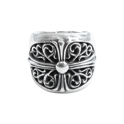 chrome hearts classic oval cross ring - SaruGeneral