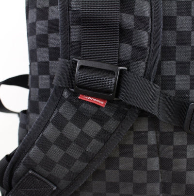 Supreme Checkered backpack Black - SaruGeneral
