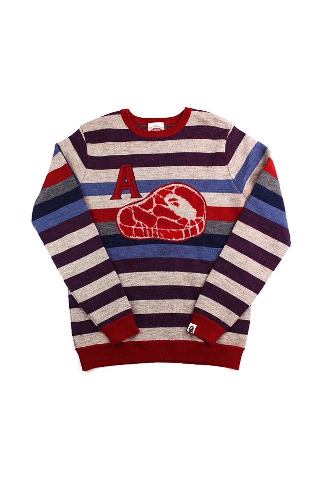 Bape A Bathing Steak Stripe LS - SaruGeneral