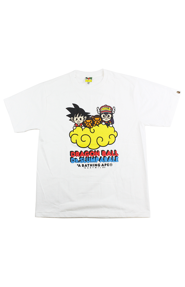 Bape x Dragon Ball Z Dr Slumparale Tee White - SaruGeneral