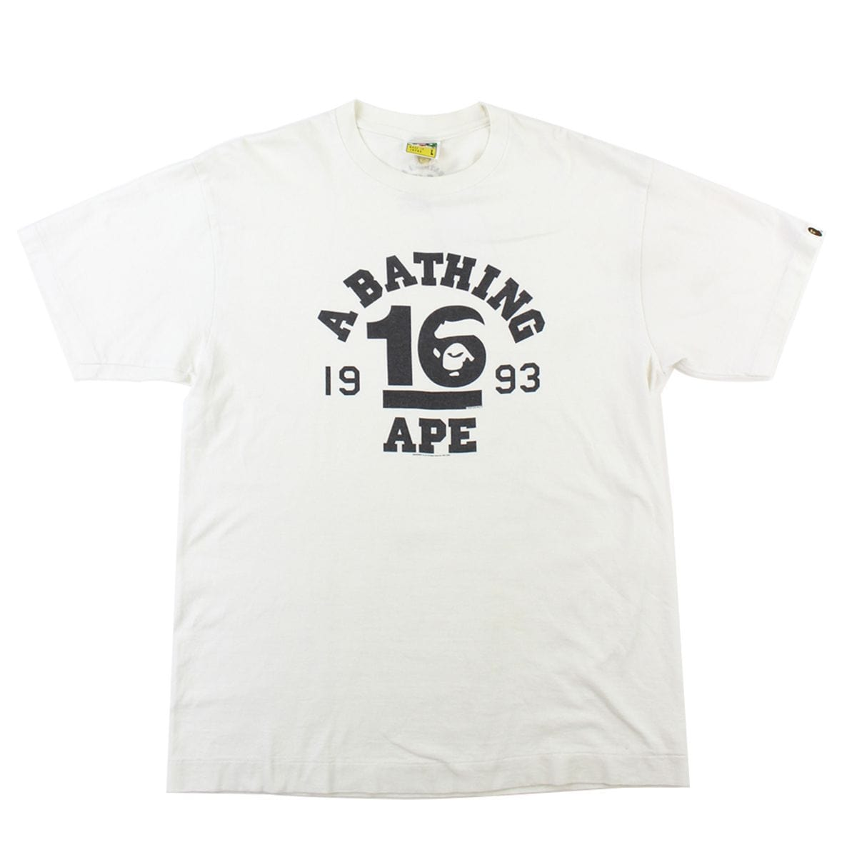 Bape '10' College Logo Tee White - SaruGeneral