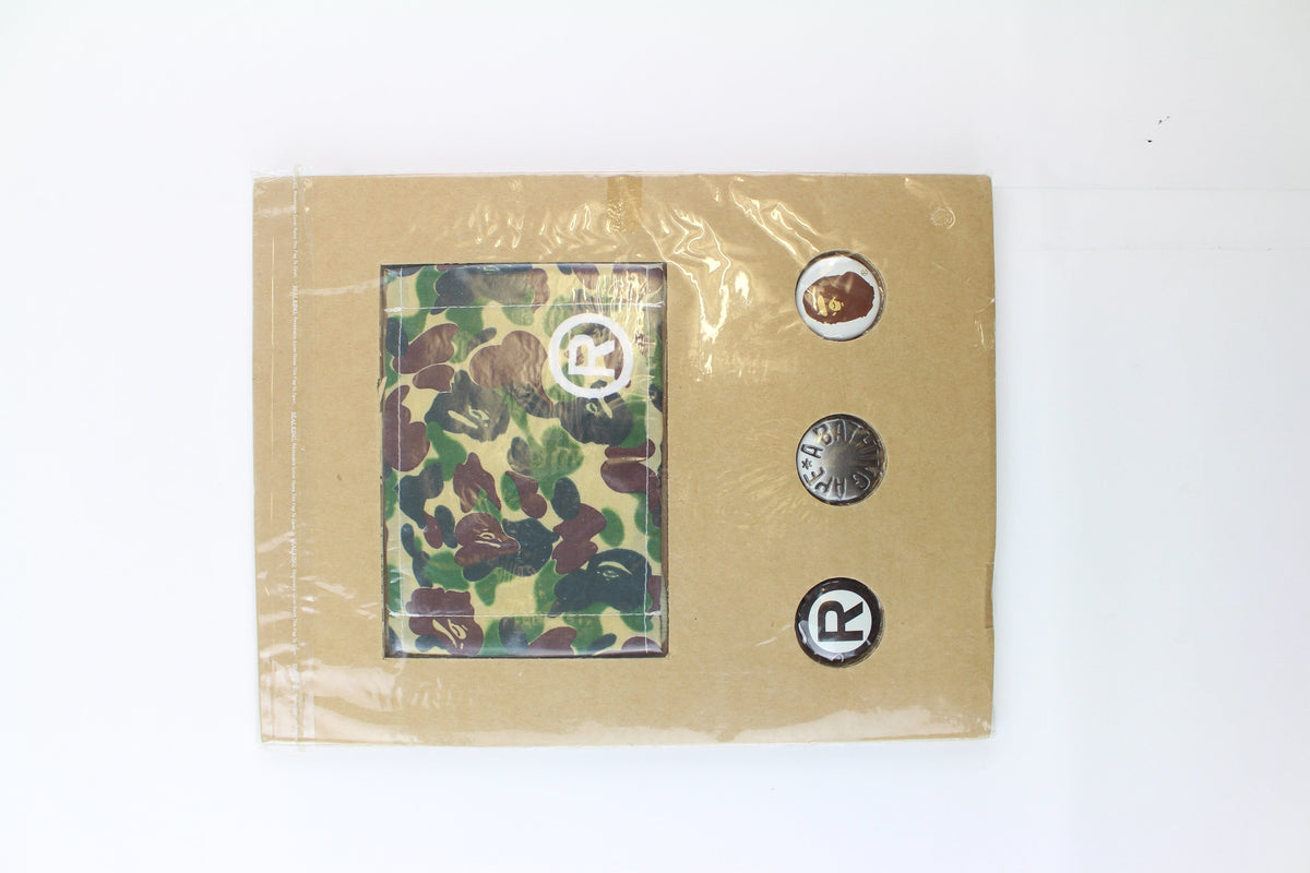 Bape 1st Yellow Camo emook Face Mask + Pins - SaruGeneral