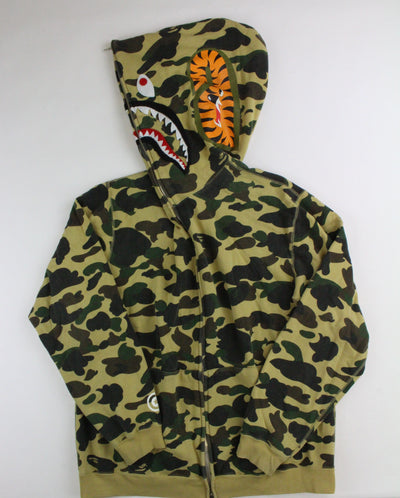 Bape 1st Yellow Camo Frankenape Shark Hoodie - SaruGeneral