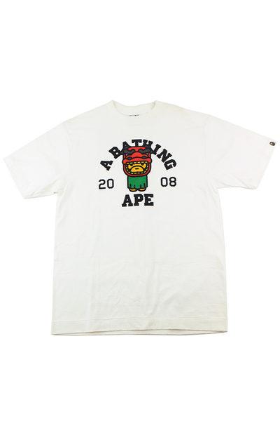 Bape 2008 Baby Milo Year of the Dragon Tee White - SaruGeneral