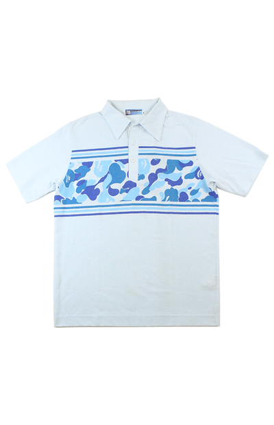 Bape ABC Blue Camo Polo Shirt Blue - SaruGeneral