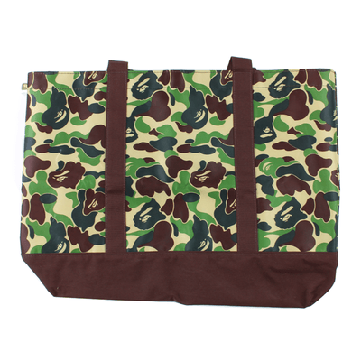 Bape ABC Green Brown Camo Tote Bag - SaruGeneral