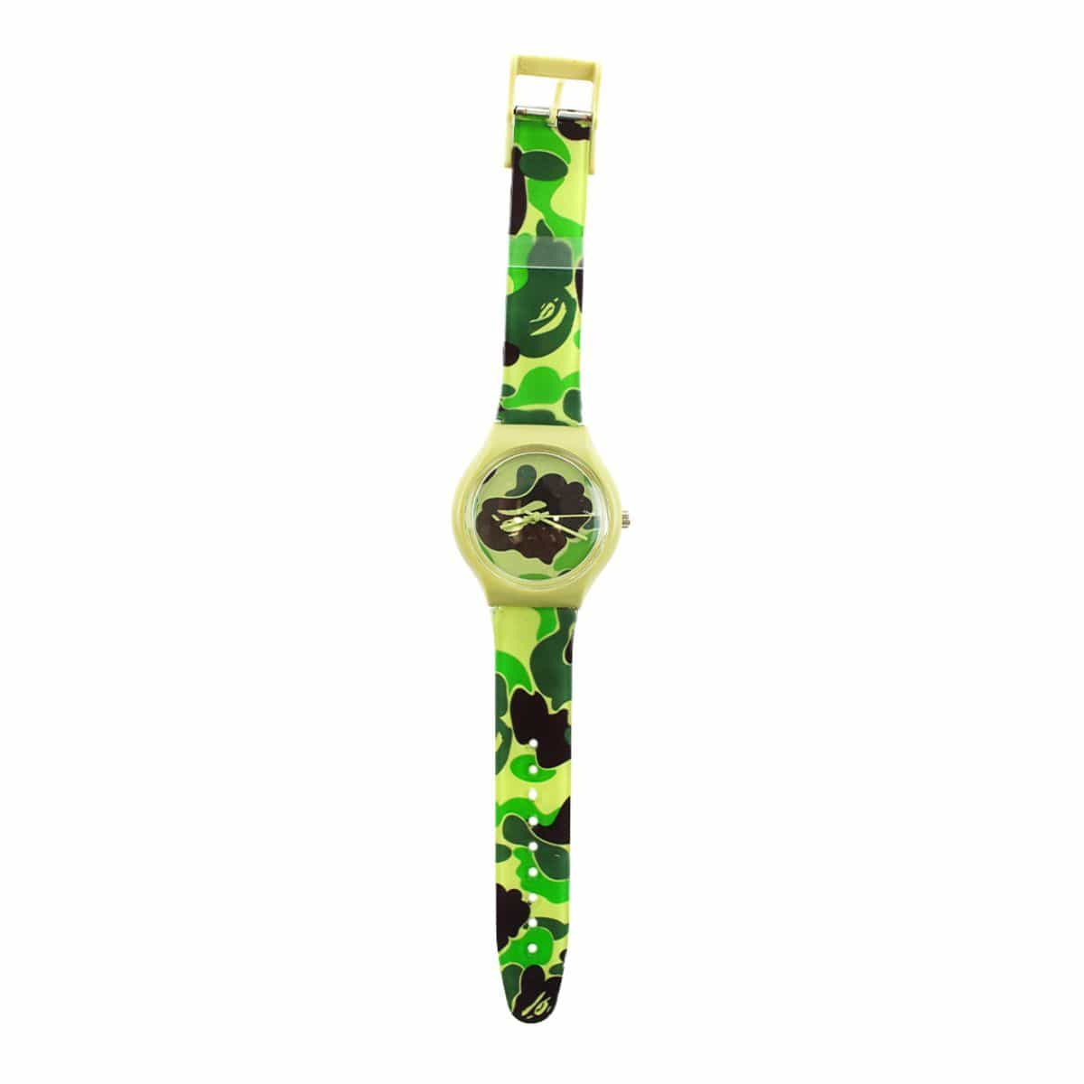 Bape ABC Green Camo Watch