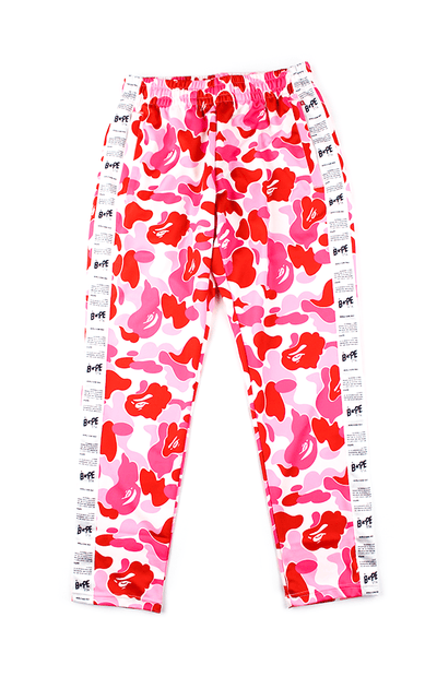Bape ABC Pink Camo Bapesta side strip Pants - SaruGeneral
