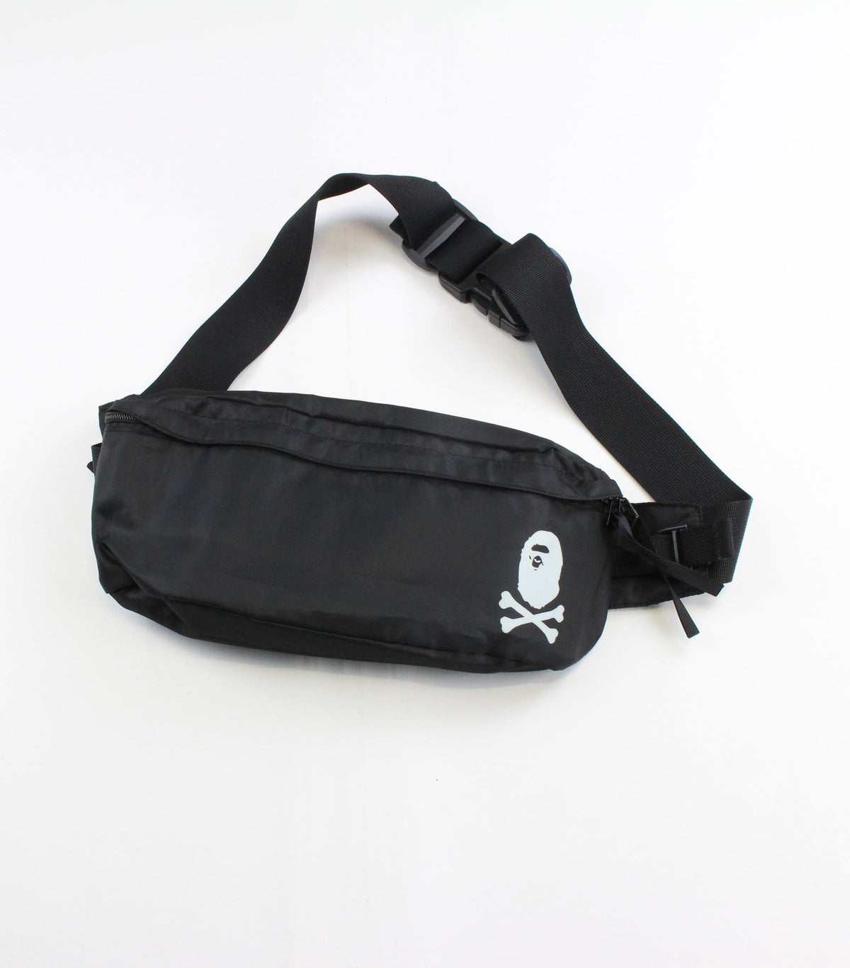 Bape pirate store Crossbones Hip Bag Black - SaruGeneral