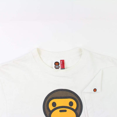 Bape Baby Milo Burger Tee White - SaruGeneral
