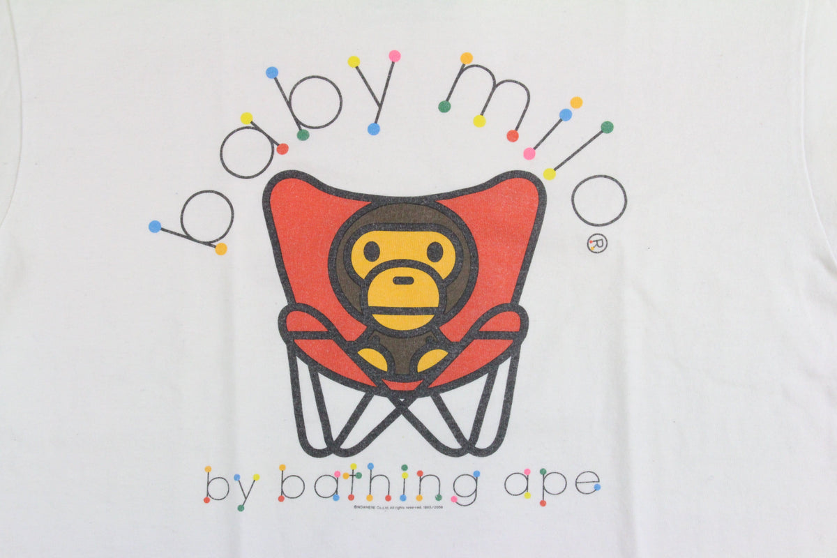 bape baby milo chair tee white - SaruGeneral
