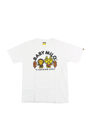 1cd45501 Bape Baby Milo Chinese Dragon Tee White - SaruGeneral