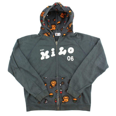 Bape Baby Milo Food Full Zip Hoodie Grey - SaruGeneral