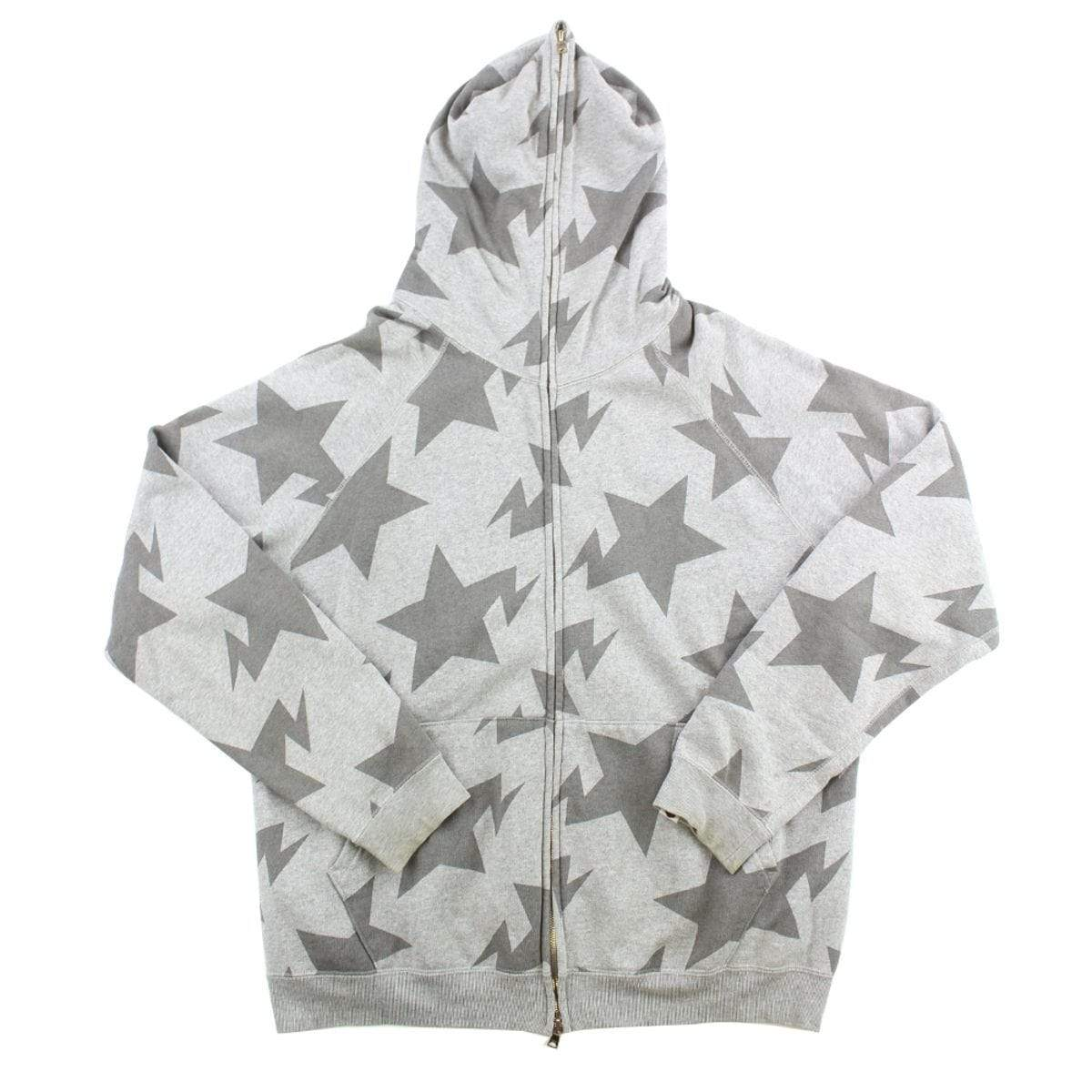 Bape Bapesta All Over Print Hoodie Grey - SaruGeneral