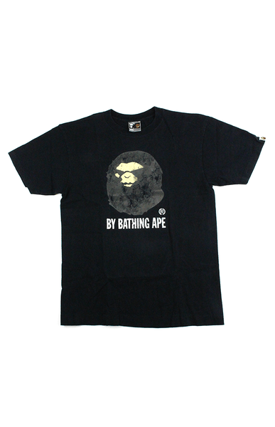Bape Big Ape Distressed Logo Tee White - SaruGeneral