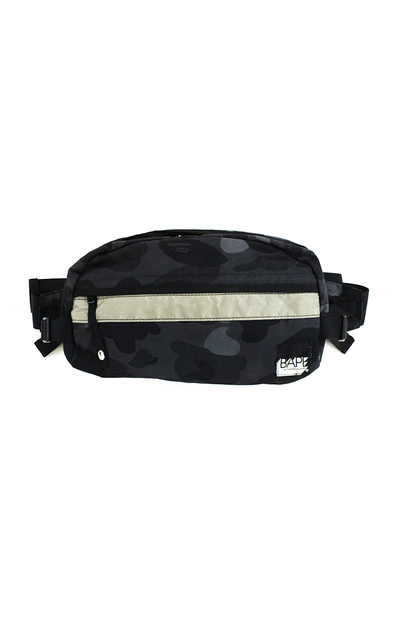 Bape Black Camo 3M Hip Bag - SaruGeneral