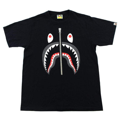 Bape Black Shark Face Tee Black - SaruGeneral
