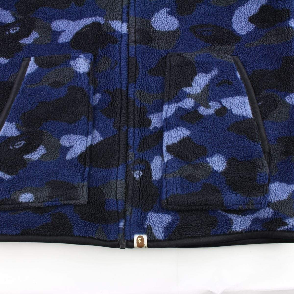 Bape Blue Camo Reversible Fleece Jacket - SaruGeneral
