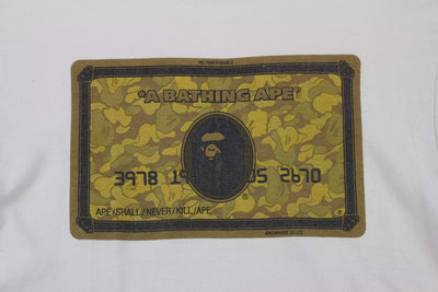 Bape Gold camo members only Card Tee White - SaruGeneral