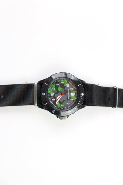 Bape Green Camo Black Watch - SaruGeneral