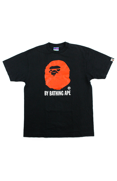 Bape Heart Eyes Red Big Ape Logo Tee Black - SaruGeneral