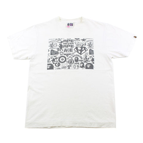 Bape Multi Logo Box Tee White