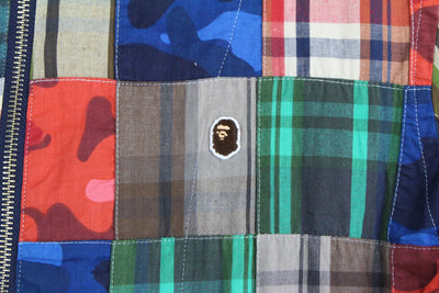 Bape Multi Camo Patch Zip Up Jacket - SaruGeneral