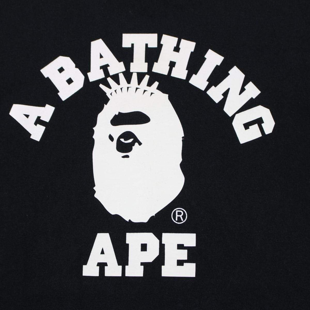 Bape NYC College Logo LS Tee Black - SaruGeneral