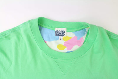 Bape Pink Text Tee Green - SaruGeneral