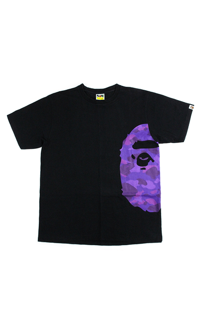 Bape Purple Camo Side Big Ape Tee Black - SaruGeneral