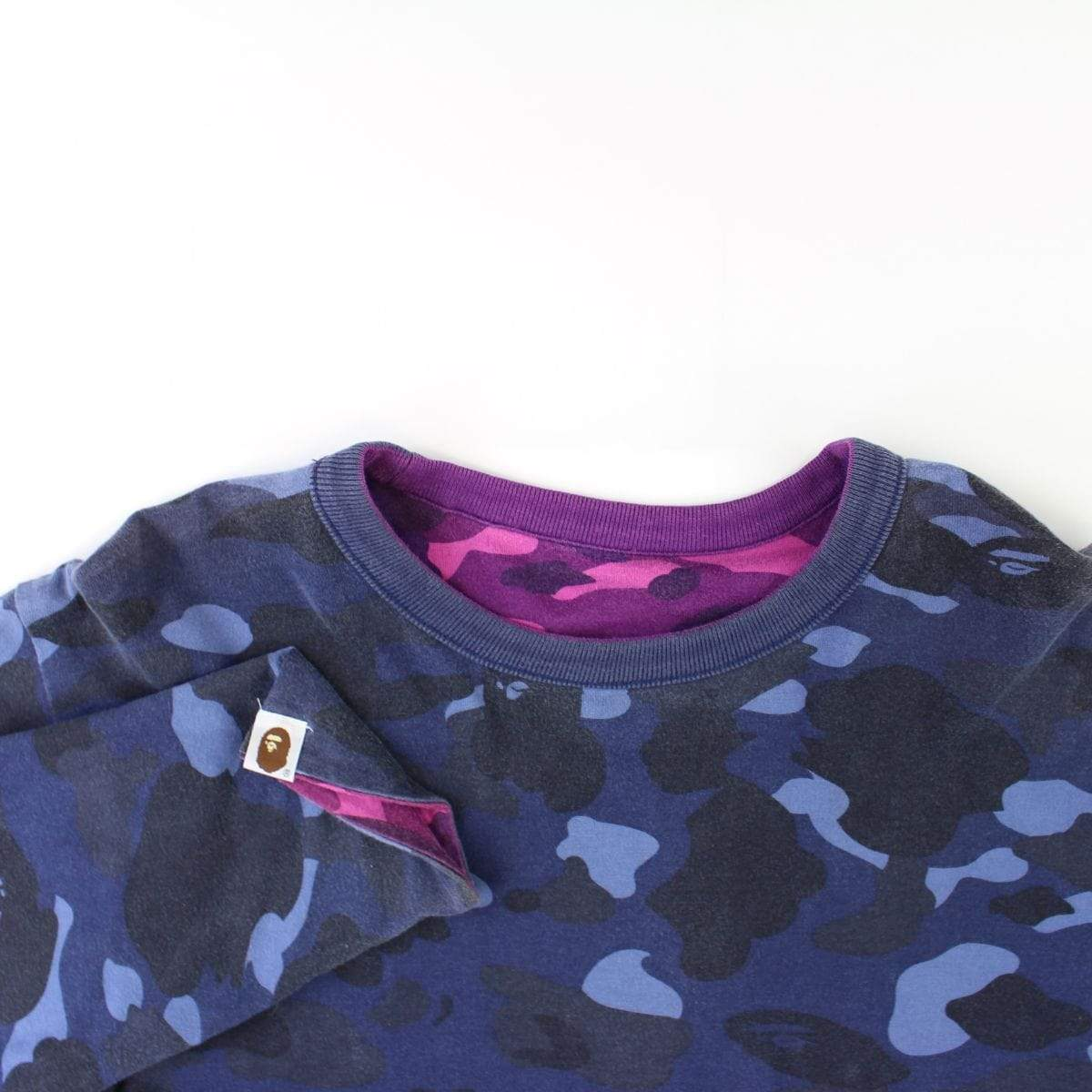 Bape Purple Camo Text Reversible LS - SaruGeneral