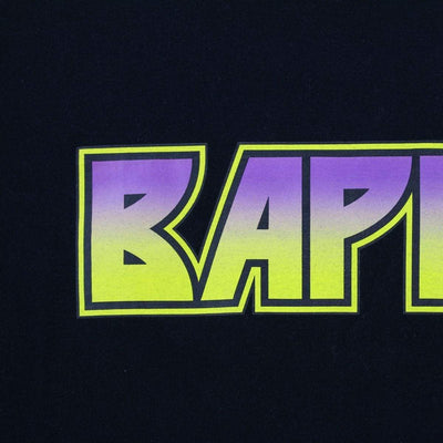 Bape Purple & Yellow Kiss Gradient Tee Black - SaruGeneral