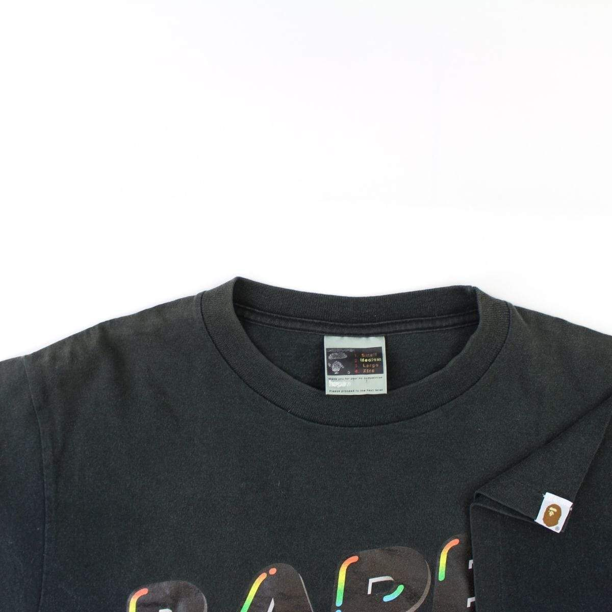 Bape Rainbow Bubble Text Tee Black - SaruGeneral