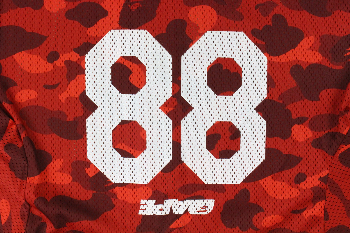 Bape Red Camo 88 Jersey LS - SaruGeneral