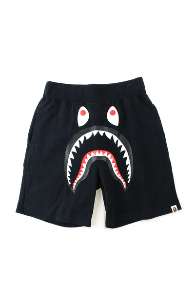 Bape Shark Face Shorts Black Green Camo Pocket - SaruGeneral