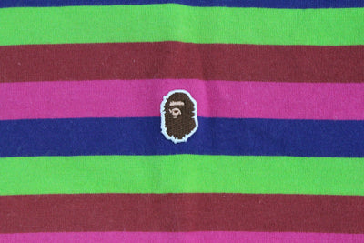 Bape point Head Logo Multicolour Stripe LS - SaruGeneral