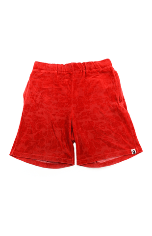 Bape Terry Shorts Red