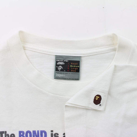 Bape The Bond Cat Camouflage Tee White