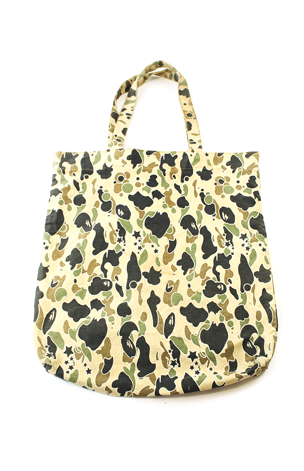 Bape Yellow Psyche Camo Tote Bag - SaruGeneral