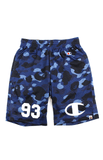 Bape x Champion Blue Camo Basketball Shorts - SaruGeneral