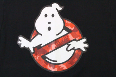 Bape x Ghostbusters Red Flame Camo Tee Black - SaruGeneral