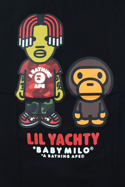 Bape x Lil Yachty Baby Milo Tee Black - SaruGeneral