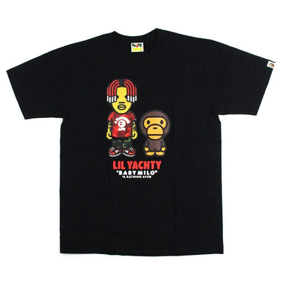 Bape x Lil Yachty Milo Tee Black - SaruGeneral