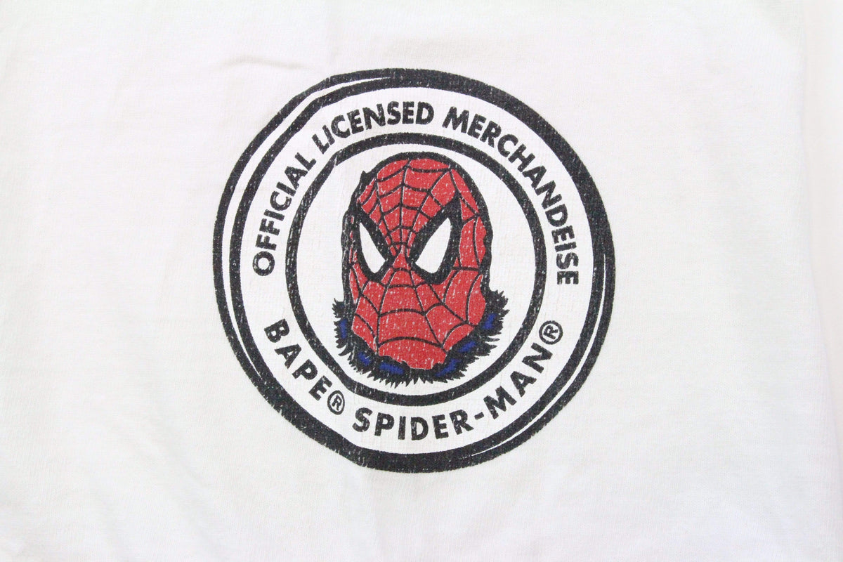 Bape x Marvel Spiderman Tee White - SaruGeneral