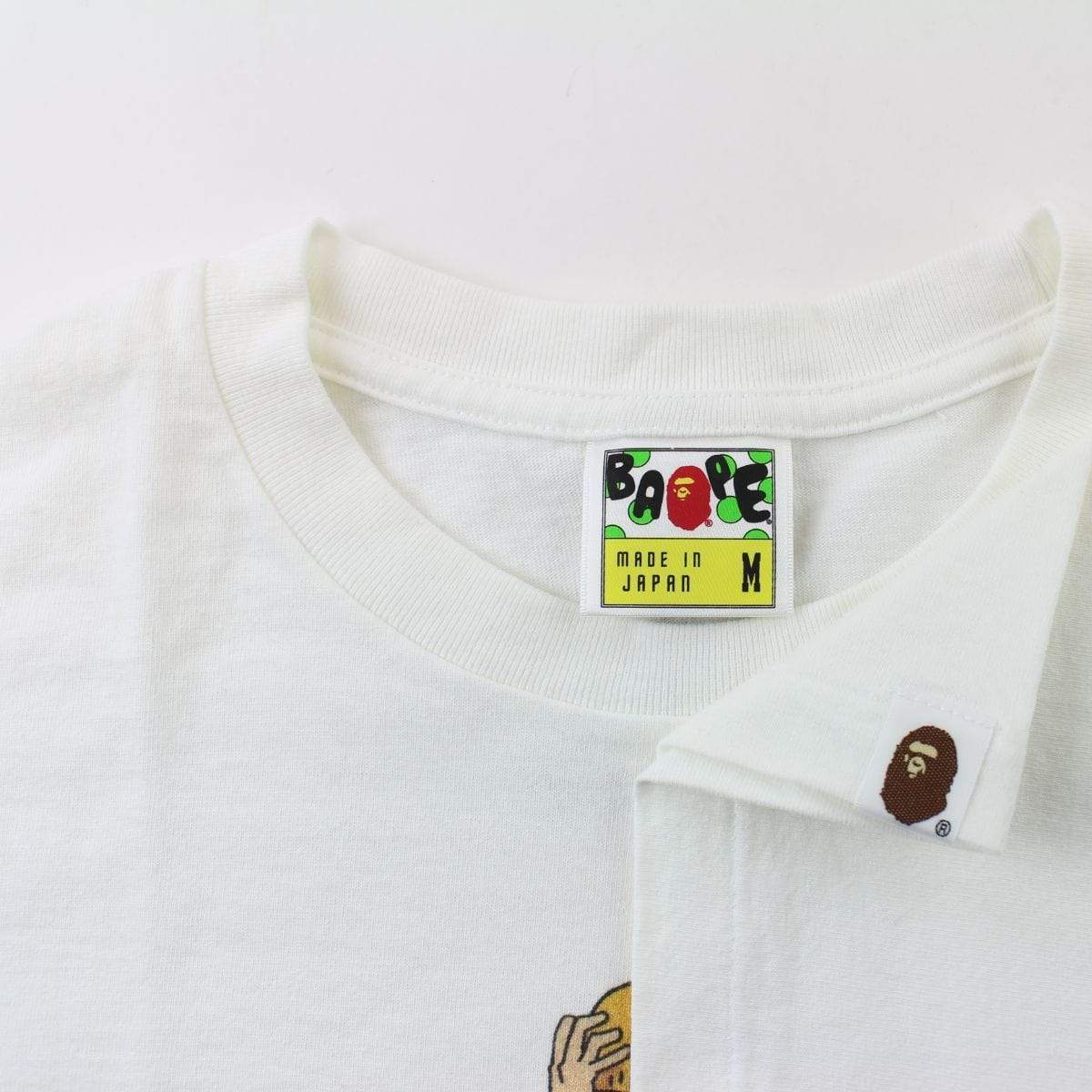 Bape x One Piece Luffy Tee White - SaruGeneral