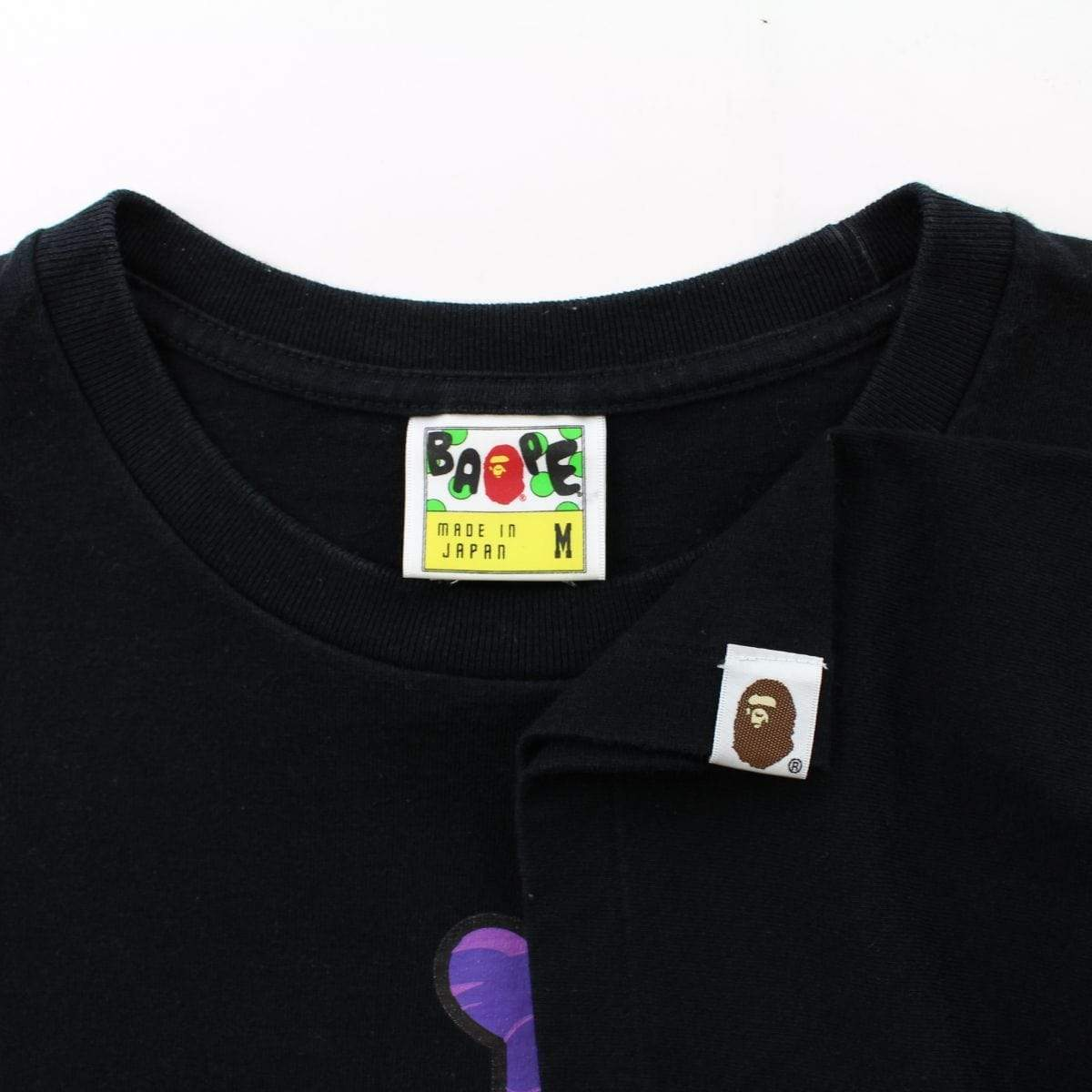 Bape x One Piece Purple Camo CrossBones Tee Black - SaruGeneral
