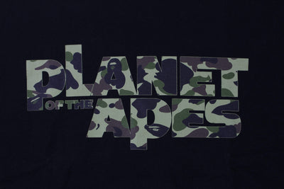 Bape x Planet of The Apes 1st Green Camo Tee Black - SaruGeneral