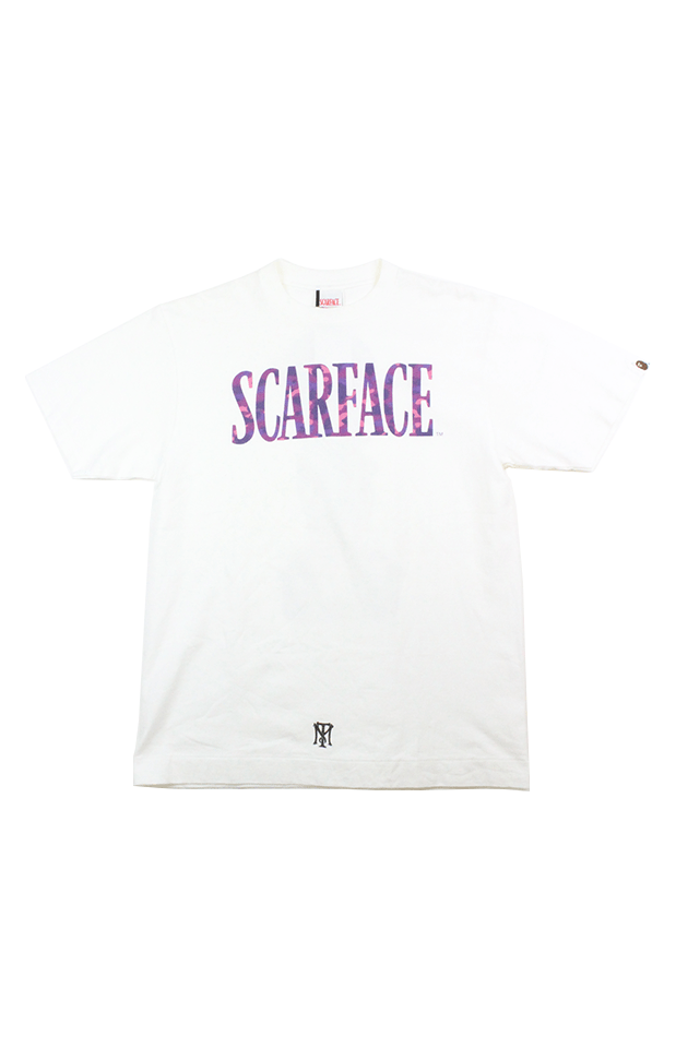 Bape x Scarface Purple Camo Tee White